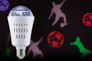 LED Lampe Motion Fußball 3,5W E27 Multicolor