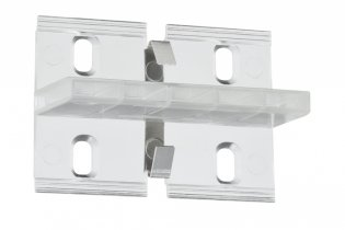 Duo Profil Fixture 4er Pack, Transparent, Metall, Kunststoff
