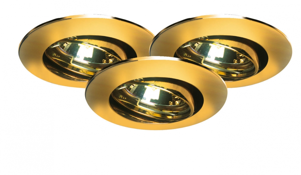 premium halogen einbauleuchten set schwenkbar 3x35w gold 99309. Black Bedroom Furniture Sets. Home Design Ideas