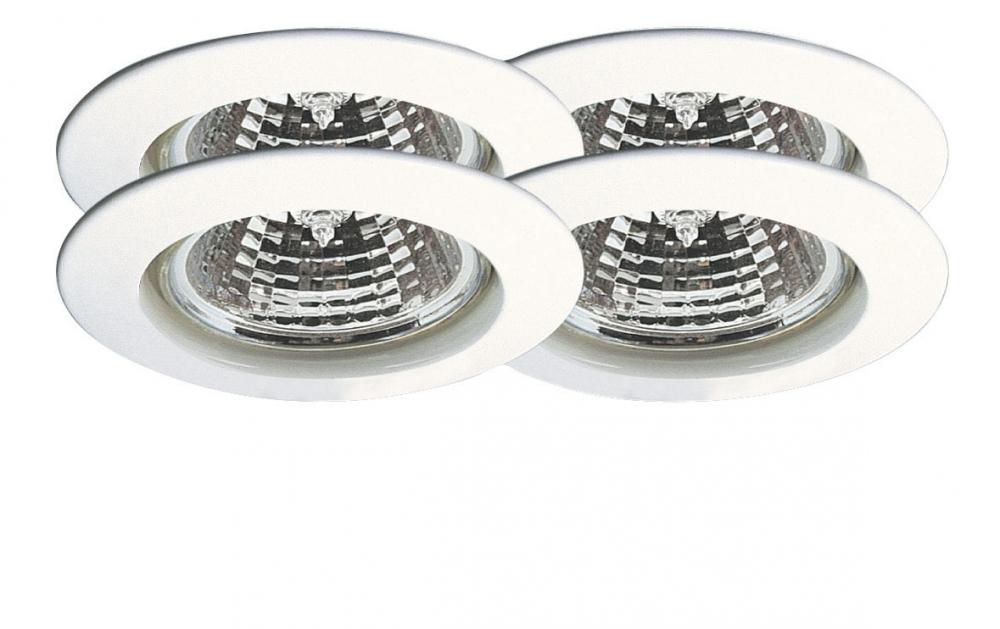 premium halogen einbauleuchten set 4x35w wei 99353. Black Bedroom Furniture Sets. Home Design Ideas