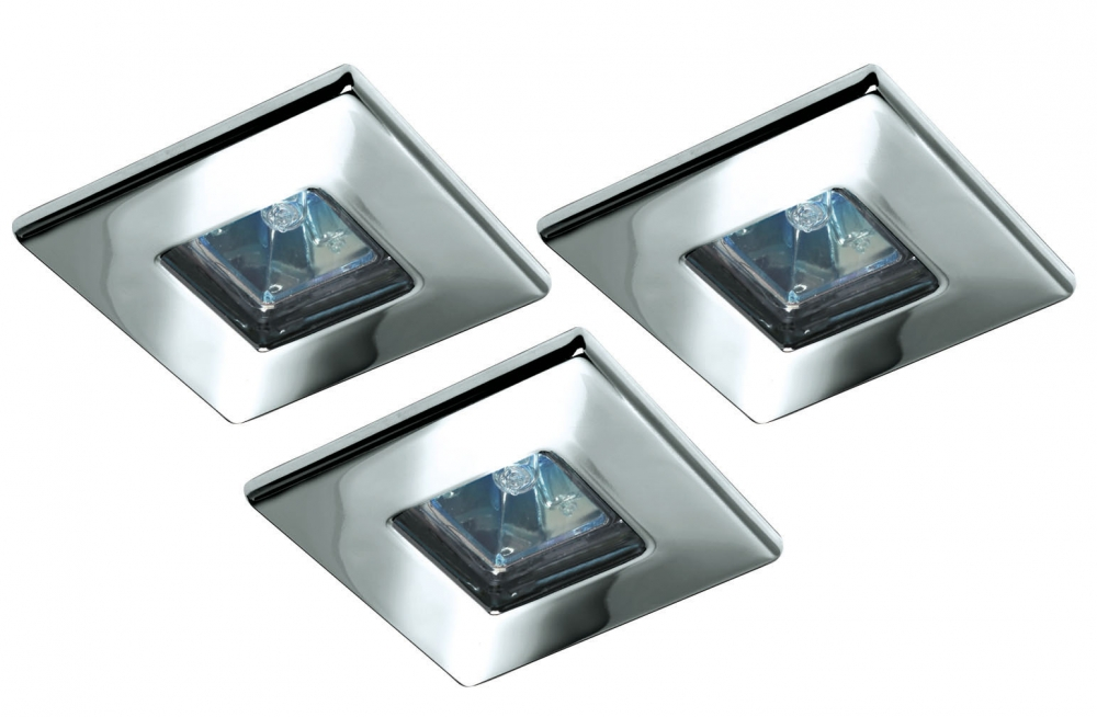 quality halogen einbauleuchten set quadro 3x20w chrom 99541. Black Bedroom Furniture Sets. Home Design Ideas