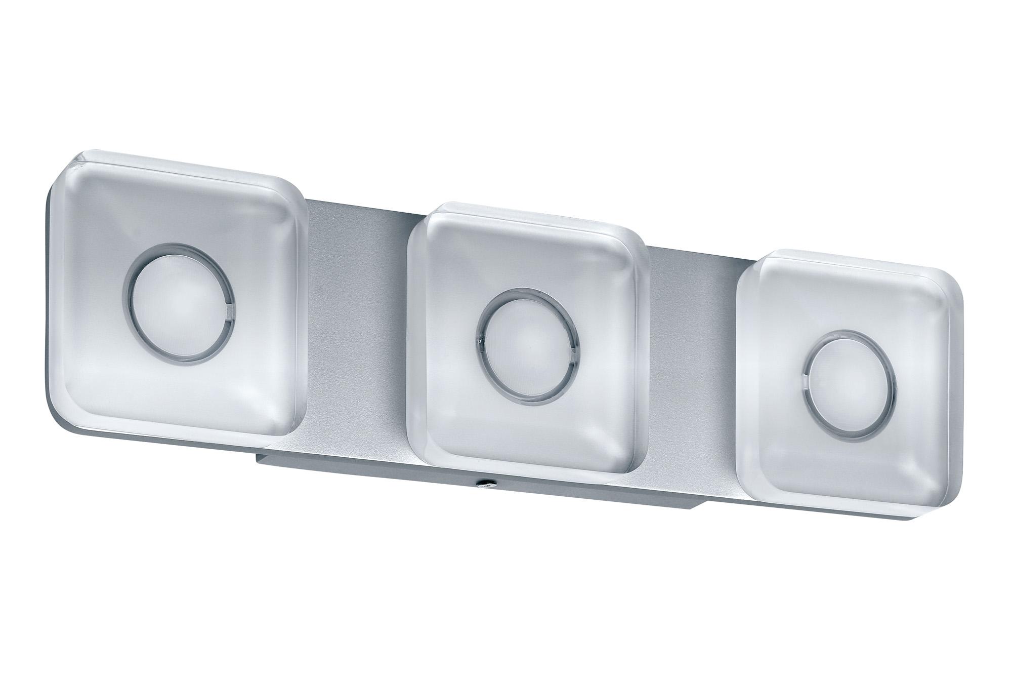 led wandleuchte tucana eckig 13 5w aluminium klar 70474. Black Bedroom Furniture Sets. Home Design Ideas