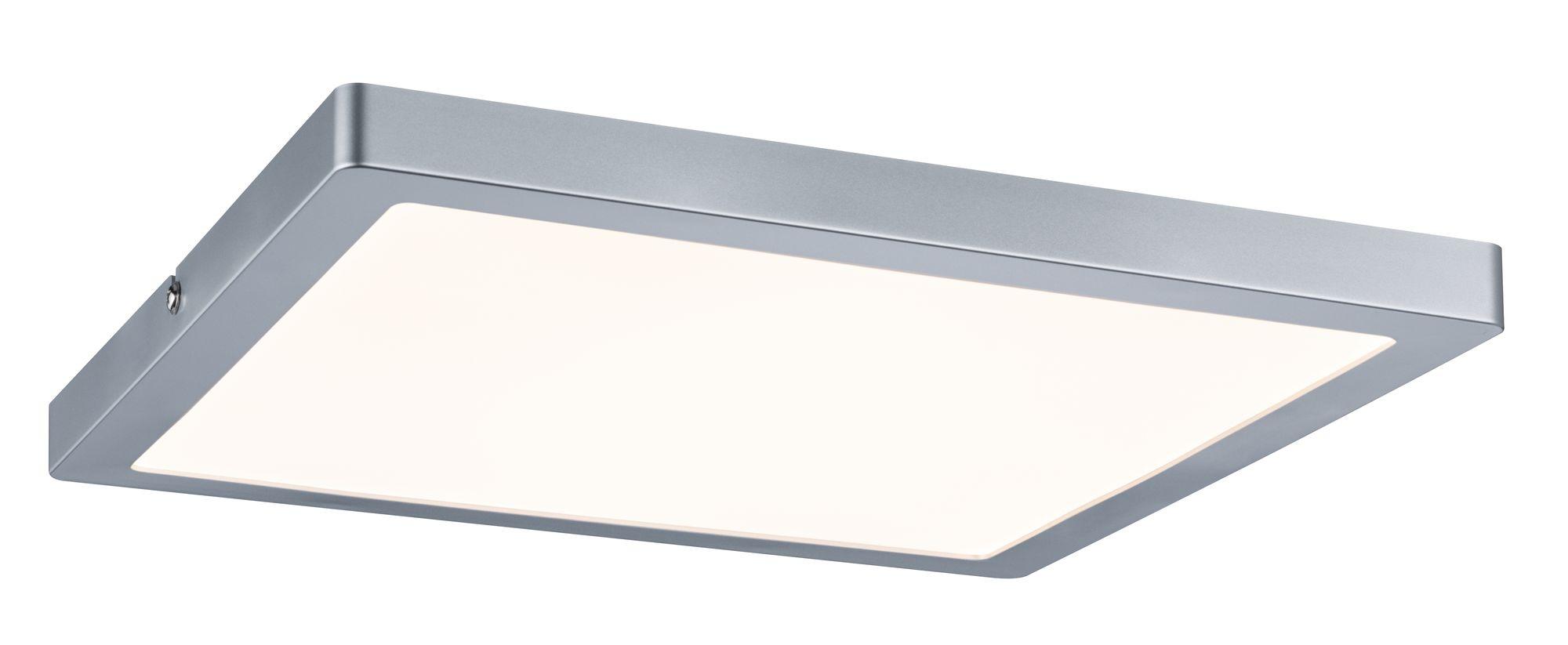 wand deckenleuchte atria led panel eckig  chrom matt