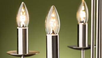 LED Kerzen in einem Leuchter